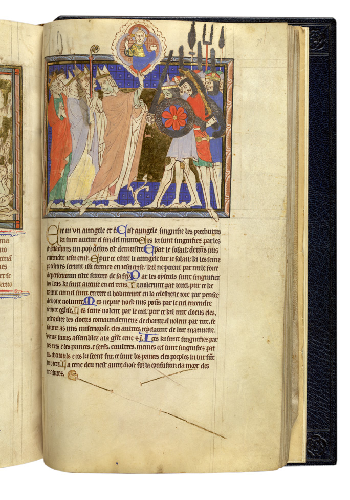 Unfinished Miniature Illustrating The Commentary On Revelation 19:17-18, In 'The Abingdon Apocalypse'